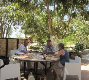 Guillermo teaching Spanish at Baja Beans